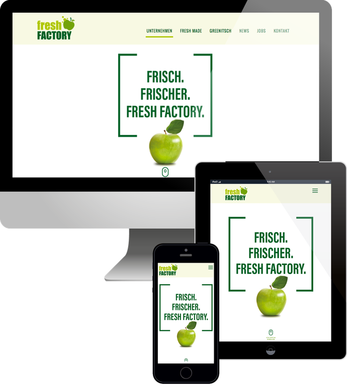 Jimdo responsive Web Design Fresh Factory