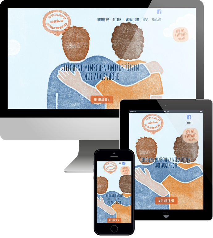 Jimdo responsive Web Design Start with a Friend