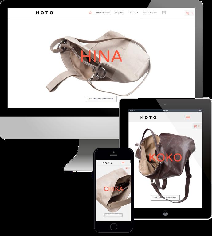 Jimdo responsive Web Design Edition Noto Webshop