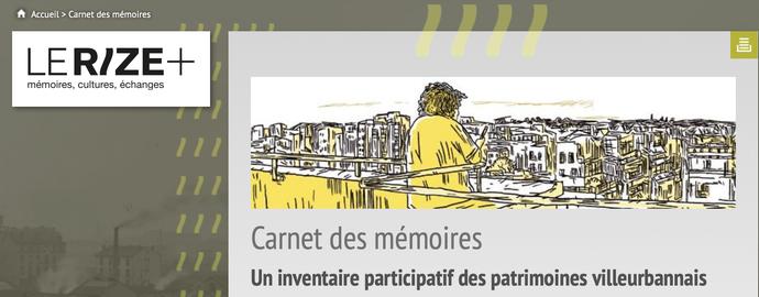 Un clic sur l'image pour accéder au site Internet du RIZE/Carnet des mémoires