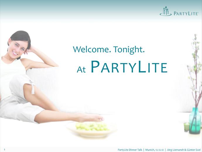 #PartyLite Dinner Talk München, 12.12.12