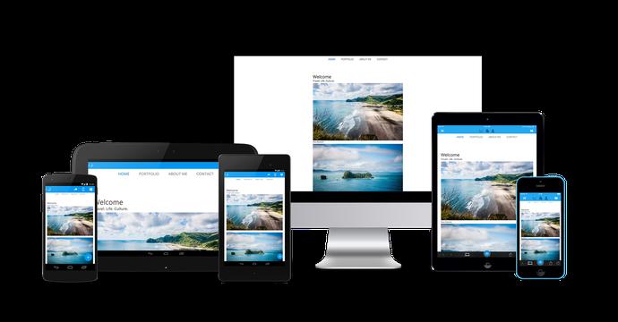 Jimdo Websites können sowohl am Desktop wie auch über die iOS- und Android-Apps bearbeitet werden