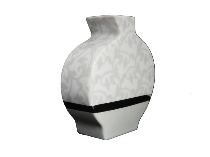 Nara Porcelaine - Trianon Vase Diffuseur de parfum Gris Argent et Platine