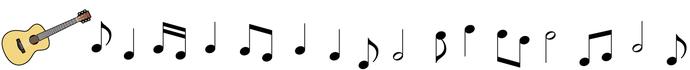 香里マンドリンアンサンブル ギターライン音符