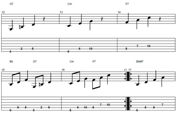 【初心者】ジャズギター入門:コードトーン3