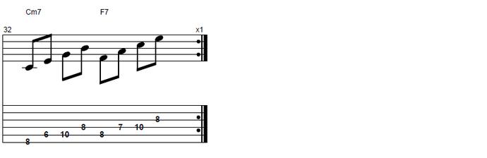 【初心者】ジャズギター入門:コードトーン6