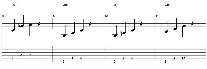 【初心者】ジャズギター入門:コードトーン2