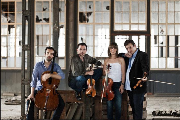 Le quatuor de l'académie nationale supérieure de musique et de danse de Lisbonne