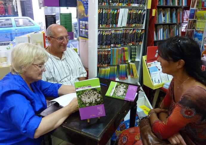 Lily Figari et Pierre-Paul Grimaldi étaient samedi à la librairie Terra Nova de Bastia.