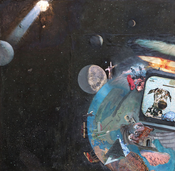 ''Chaosmos'' Mixmedia. 100x100 cm