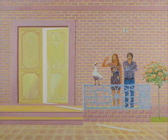 ''House No.7'' Oil on canvas. 10x120 cm *2016