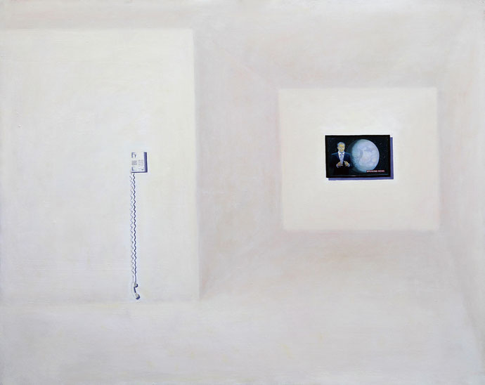 ''Breakin News'' Oil on canvas. 120x 150 cm *2010