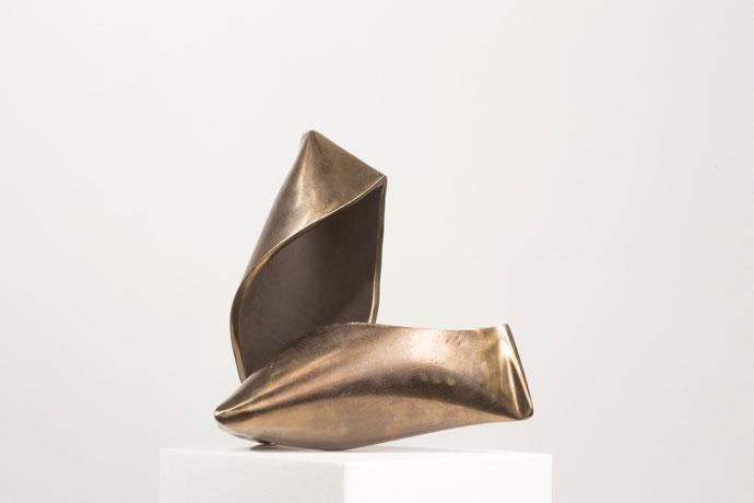 """Haptikos"" Nr.. 08-2015, 30 x 30 x 20 cm, Stahl angelassen"