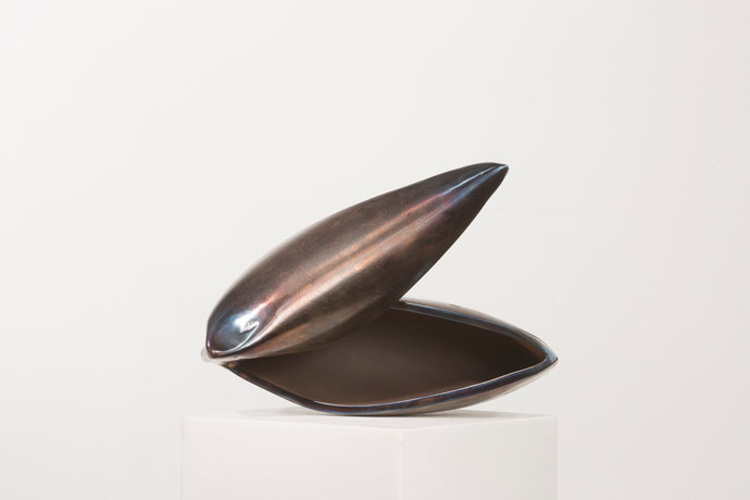 """Haptikos"" Nr.. 05-2015, 24 x 42 x 15 cm, Stahl angelassen"
