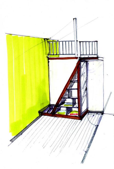 Création d'une mezzanine