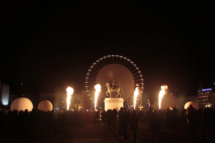 Place Bellecour - Fête des Lumières - Lyon - Déc 2013 - Photos © Anik COUBLE