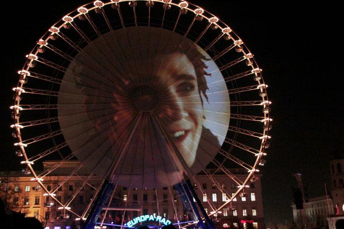 Pierrot le feu - Place Bellecour - Fête des Lumières - Lyon - Déc 2013 - Photos © Anik COUBLE