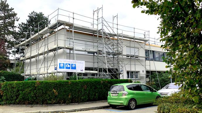 Wichtig: Gerüstbau ist anspruchsvoller als für die ursprüngliche Dachsanierung