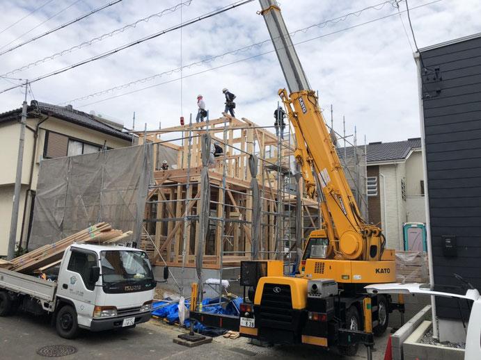 知多市で建て方 木の家