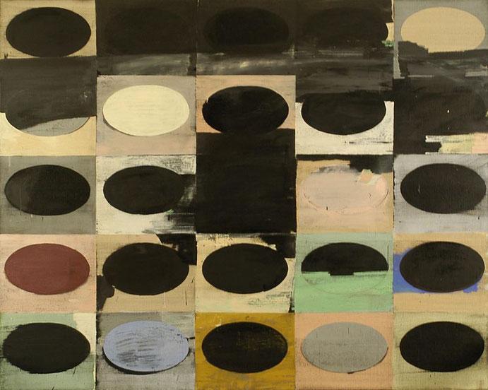"""""""Grosse Emblemewand"""", 2000, Öl auf Leinen, 160 x 200cm"""