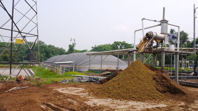 Producción de fertilizante organico en biodigestores - separación de lodos