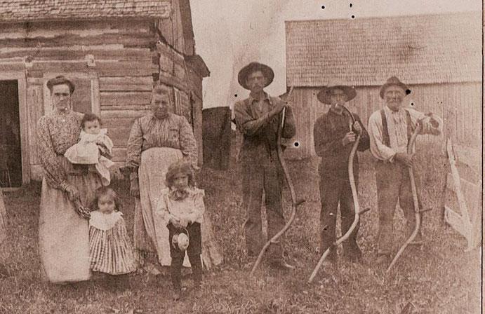 La famille Bibeau au début du XXème siècle.