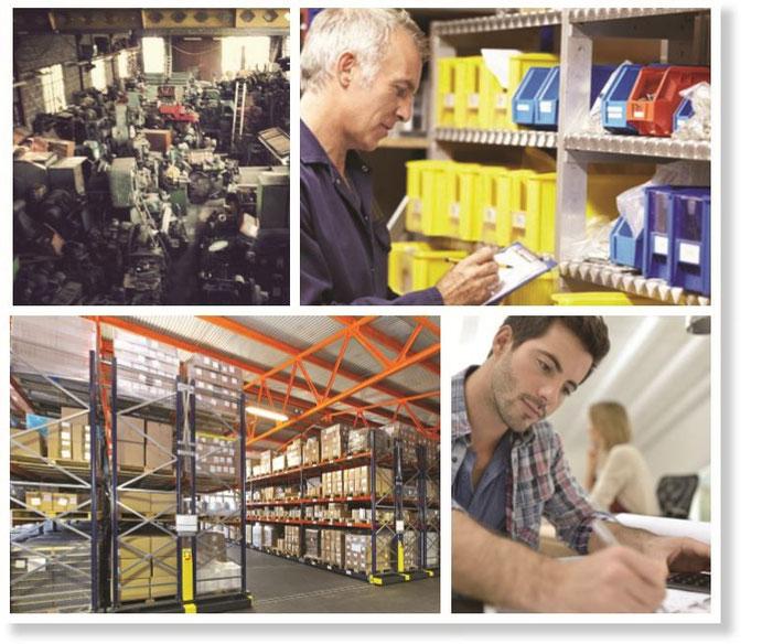 Beispiele von Lagern in der Industrie und deren Verwaltung