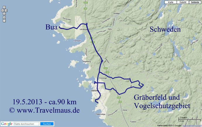 Bua-Grabfeld+Vogelschutzgebiet-Bua ca.90 km