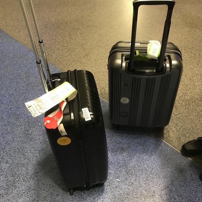 無事に手元に帰ってきたスーツケース