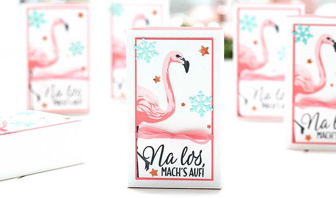 Flamingo-Weihnachtspost