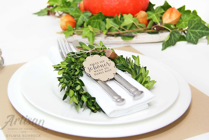 Liebevolle Details-Tischdekoration mit Stampin Up
