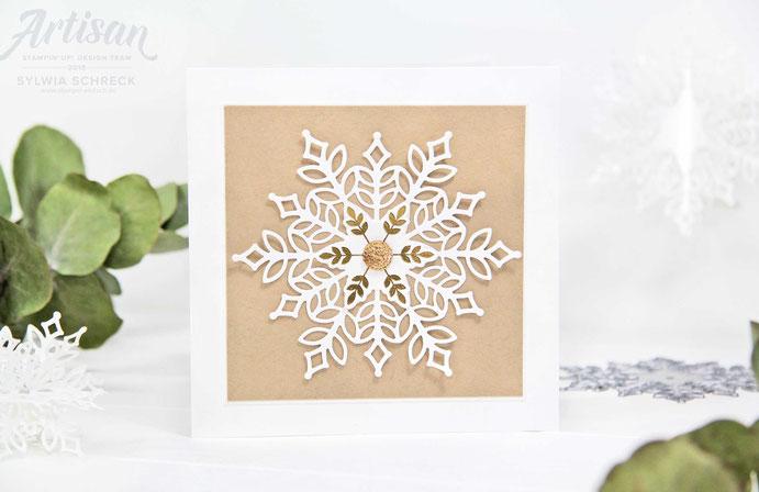 Weihnachtskarte - Schneeflocken - Stampin Up!