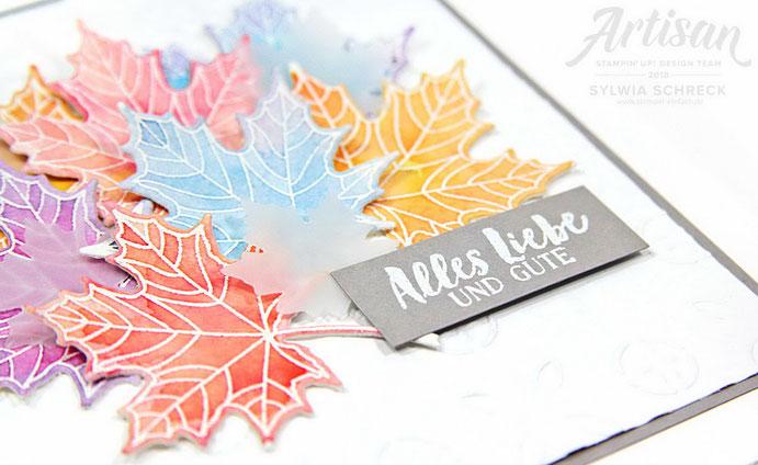 Jahr voller Farben- Aquarellkarte