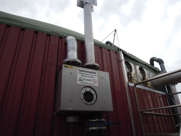 Pressure control - digester - biogas plant