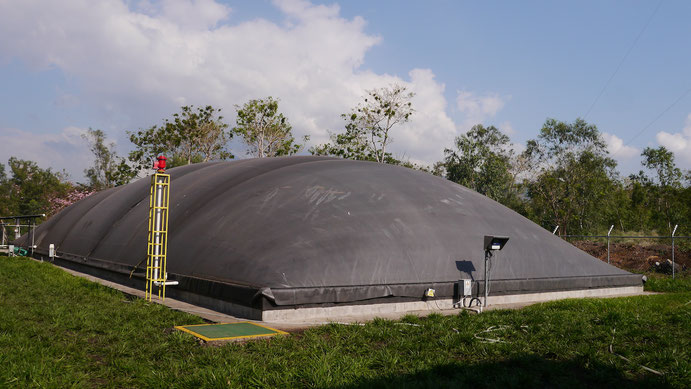 Covered lagoon digester -biogas