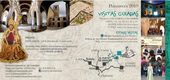 visitas guiadas monasterio san victorian 2019