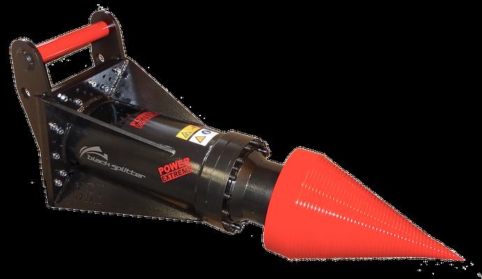Kegelspalter Black Splitter SBX / Holzspalter / Spalter / Planetengetriebe / Baggerzubehör / Bagger