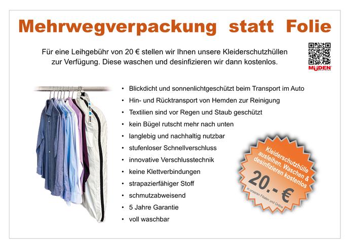 mueden.de, Startseite, Bild von Kleiderhülle im Verleih für € 20.-