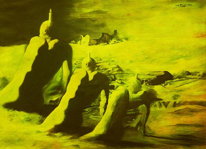 Accidia / Sloth (1999) olio su legno - oil on wood, cm (110 x 80)