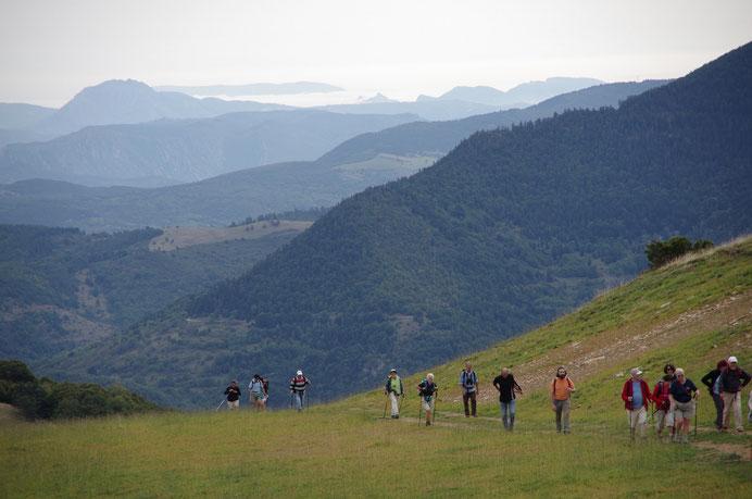 Sentier de la Forêt d'En Malo - vue sur Axat et les Gorges de la Pierre Lys - Rando Pyrénées Audoises