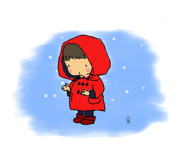 赤いコートの女の子