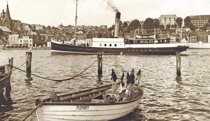 Dampfer ,Albatros' im Flensburger Hafen 1964