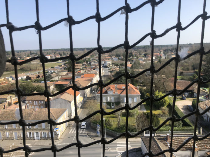 La vue depuis le point culminant de l'édifice.