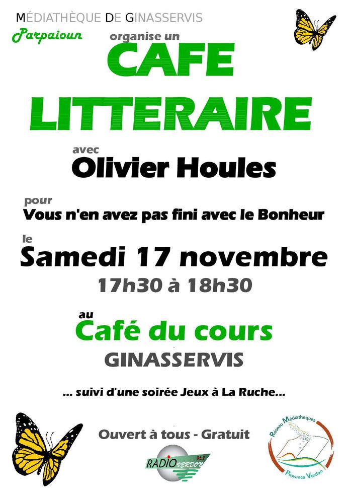 Café littéraire Olivier Houles