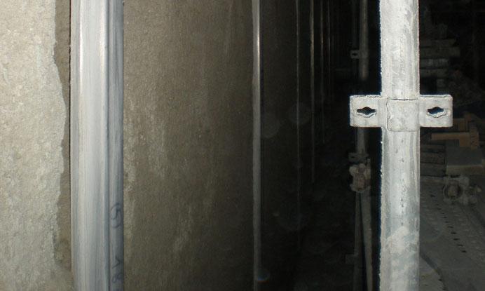 Génie civil - béton projeté par voie sèche - parois de cuves