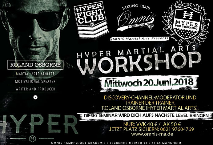 Hyper Pro Training Workshop Fitness Kampfkunst Mannheim Hollywood Ludwigshafen Adlermannheim Omnis Kampfsport