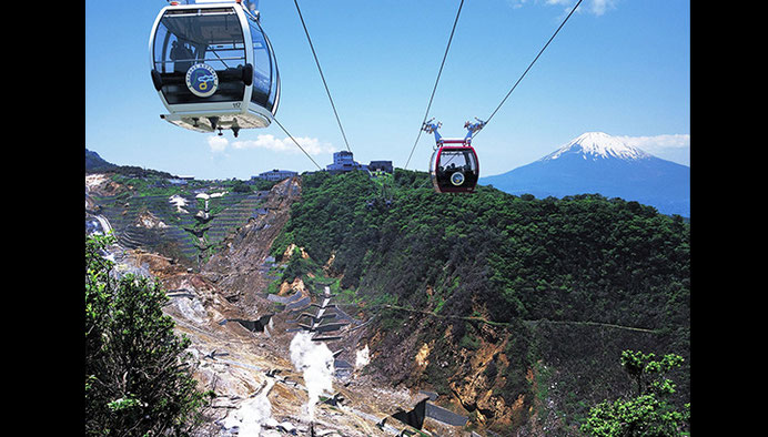 La vallée d'Owakudani à Hakone
