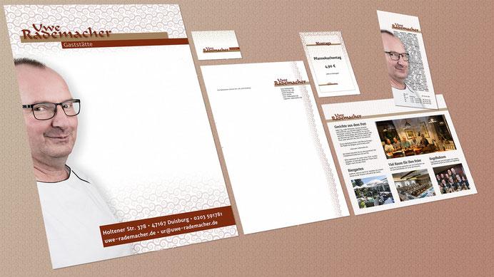 Die Webseite uwe-rademacher.de auf großem Bildschirm, einem Laptop und einem Tablet