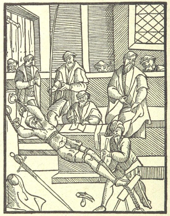 Folterknechte Das Strecken während der Peinlichen Frage