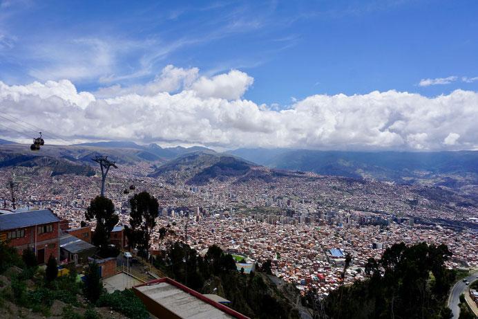 La Paz ist die höchstgelegene Hauptstadt der Welt. Auf 3600 m wird die Luft schon knapper!